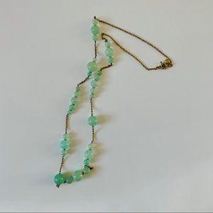 SALE 🔥 J.CREW Mint Green Bauble Long Necklace